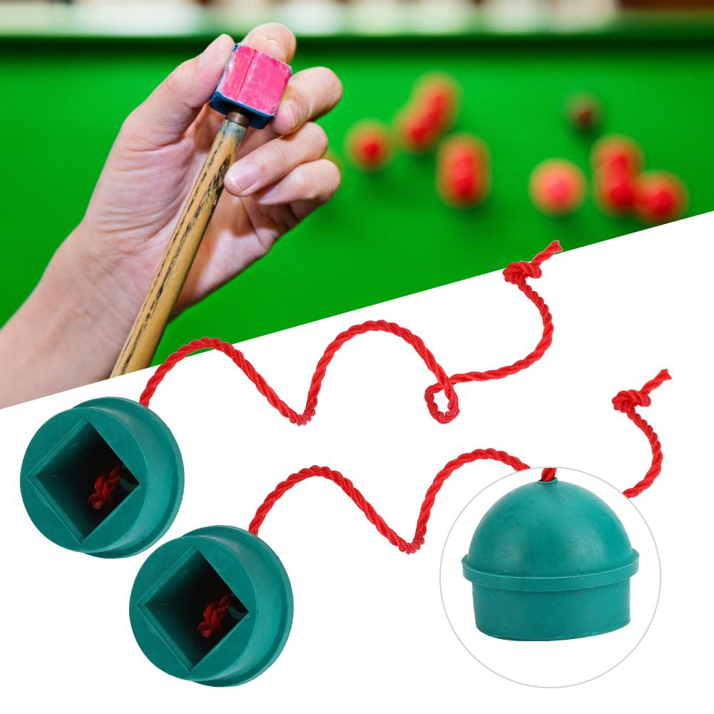 Portable Pool Table Rubber Chalk Holder Rubber Pool Cue Grip On a String