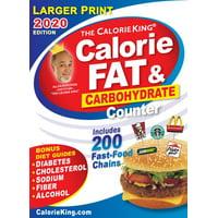 CalorieKing 2020 Larger Print Calorie, Fat & Carbohydrate Counter