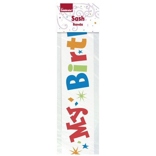 "Unique ""It's My Birthday"" Satin Sash"