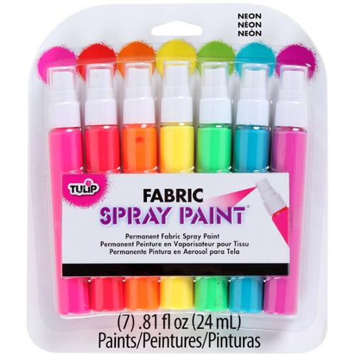 Tulip Fabric Mini Spray Paint Kit-Neon