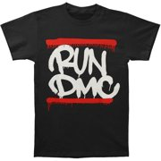 Run DMC Men's  Dripping Logo T-shirt Black