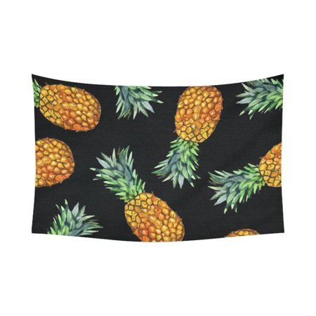 PHFZK Summer Tropical Beach Theme Wall Art Home Decor, Hawaii Pineapple Tapestry Wall Hanging 60 X 90 Inches](Hawaiian Home Decor)