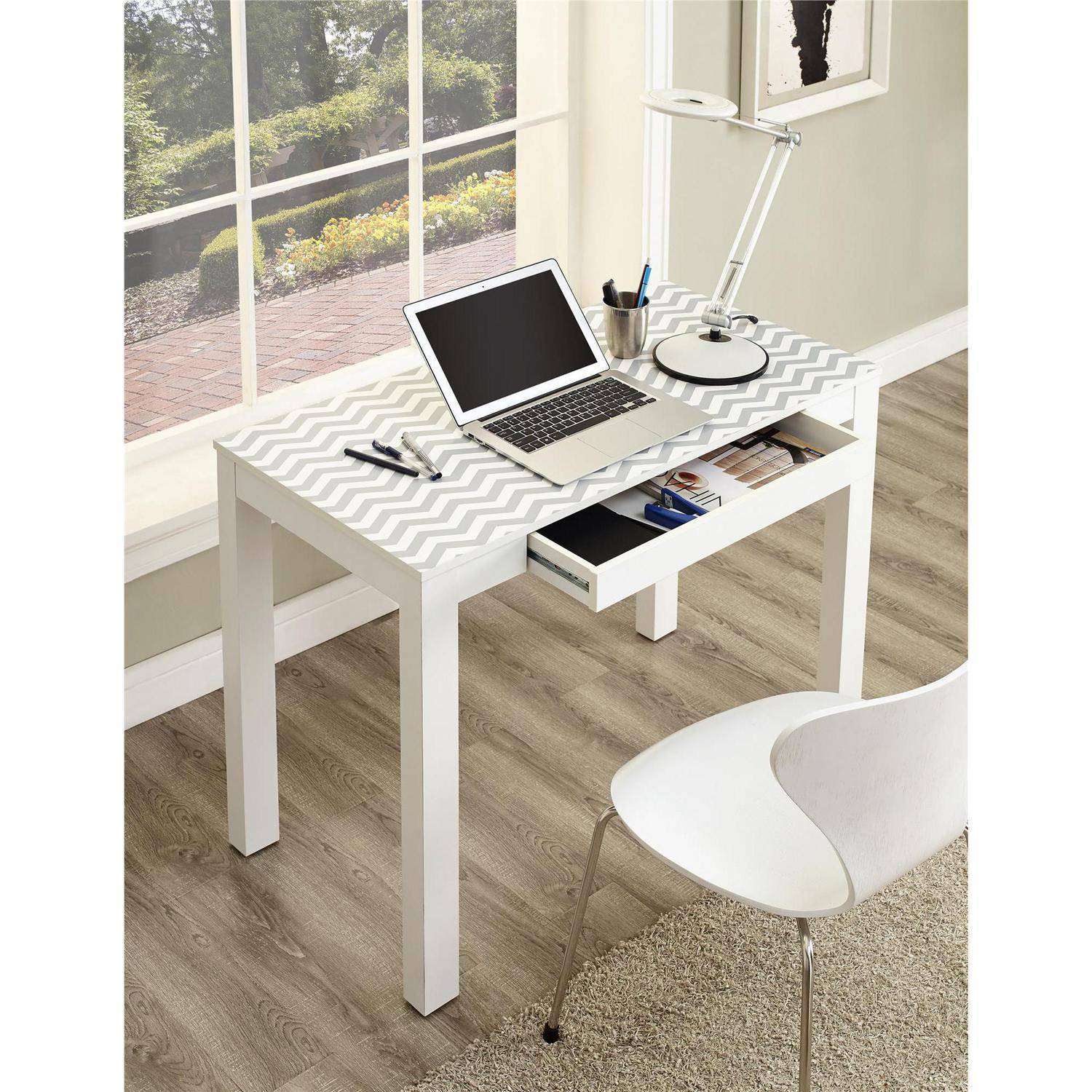 Ameriwood Home Parsons Desk With Drawer, Multiple Colors   Walmart.com