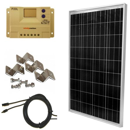 100 Watt Off-Grid Polycrystalline Solar Panel Kit with P20L