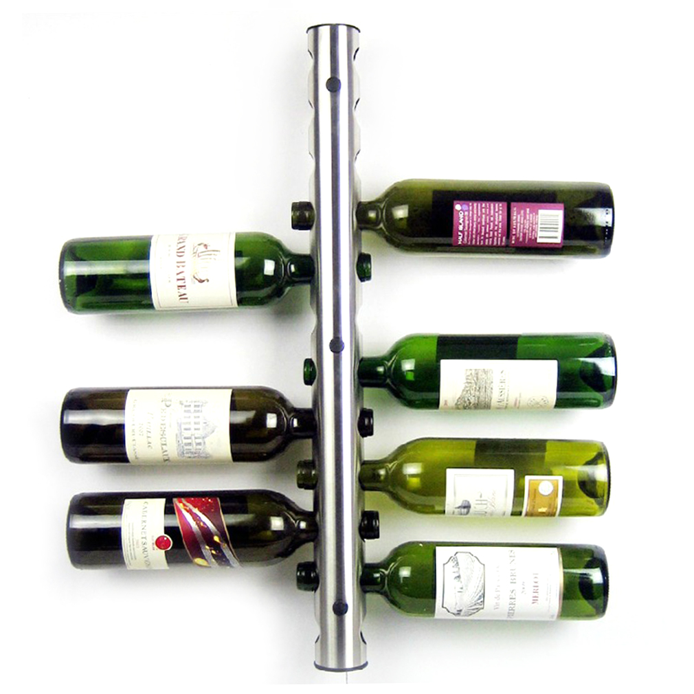 new classic stainless steel 12 holes creative wine rack holders wall mounted