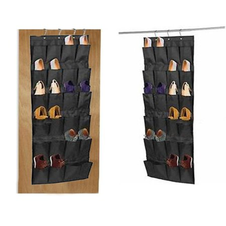 Over door shoe organizer,24 pocket Grey shoe organizer, keep shoes off floor and pairs not mixed up.