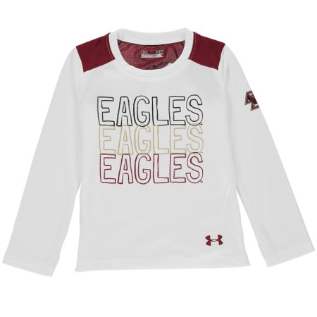 Boston College Eagles Under Armour Girls Toddler Nu Performance Long Sleeve T-Shirt - White