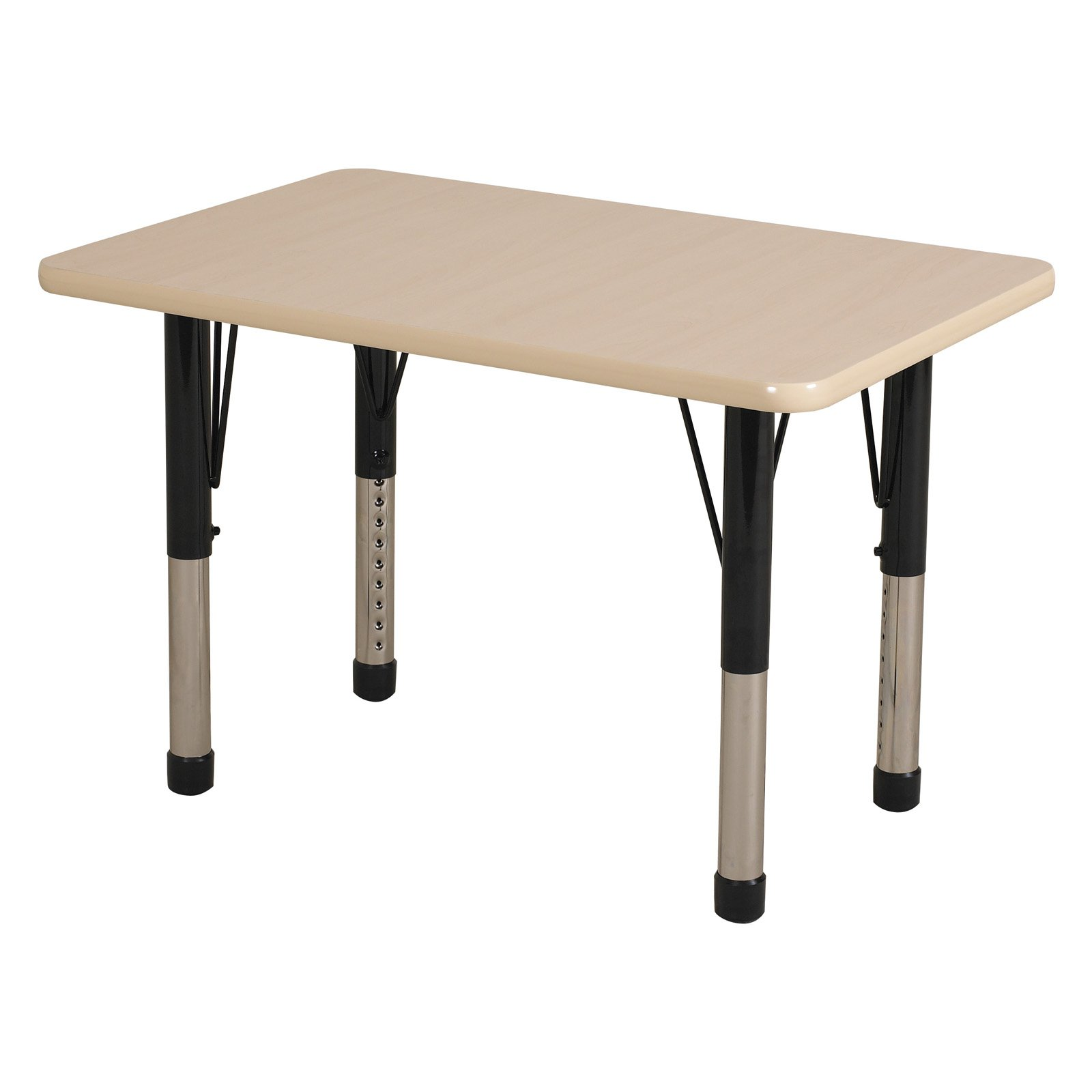 Chunky Rectangular Table Maple and Black