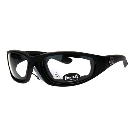 Choppers Foam Padded Biker Wind Breaker Motorcycle Riding Sunglasses Clear (Cheap Motorcycle Sunglasses)