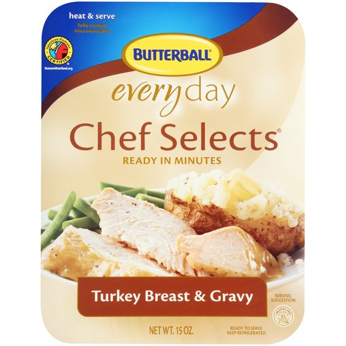 Butterball Everyday Chef Selects Turkey Breast & Gravy, 15 oz