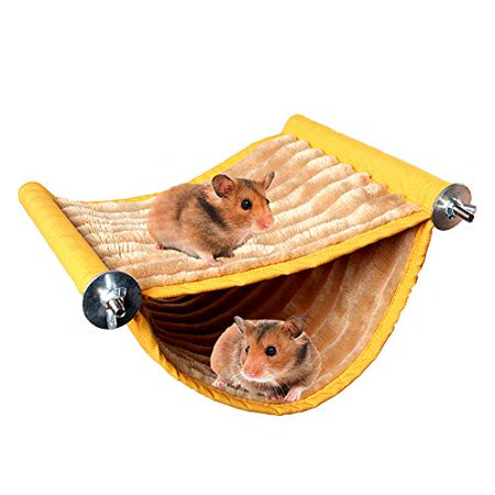 STAR-TOP Hamster Bed,House Hammock Small Animal Bed House Cage Nest Hamster Accessories for Sugar Glider Hamster Small Pet (Sugar Glider Accessories)