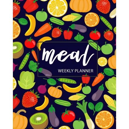 Meal Weekly Planner: Weekly Menu Planner with Grocery List, 52 Week Food Planner, Track and Plan Your Meals Weekly, Eat Records Journal Diary Notebook, Notes, (Food Planners) Large (8