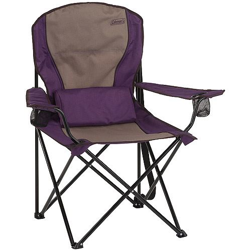 Coleman Oversized Quad Chair with Lumbar Support, Purple