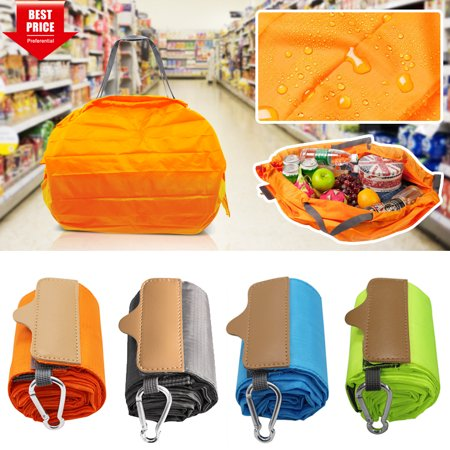 [Newest 2019] LNKOO Grocery Bags Reusable Foldable for Shopping, Foldable Into Pouch, Extra Large & Durable Heavy Duty Shopping Totes, Washable, Long Handles & Washable, Durable and