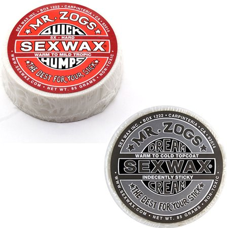 Sex Wax Quick Humps Surf Wax Pack Of 2  5X And Dream Cream Platinum