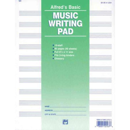 Alfred's Basic Music Writing Pad
