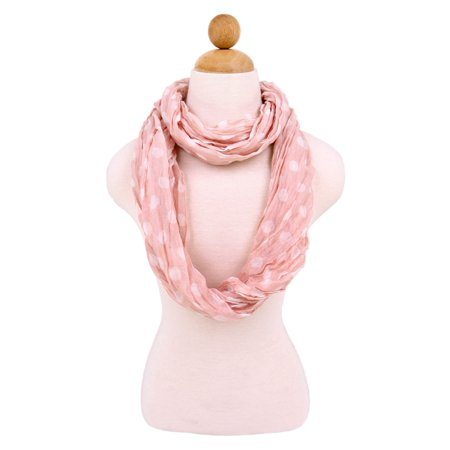Premium Polka Dot Infinity Loop Fashion Scarf