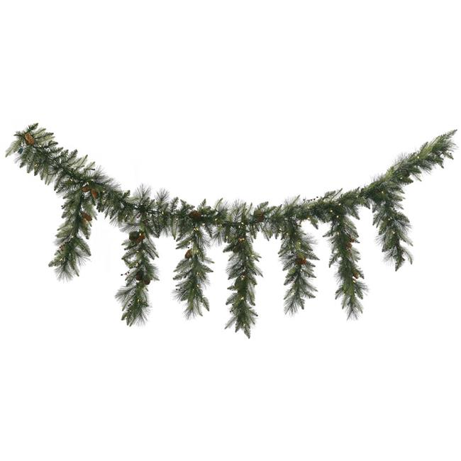 Vickerman A143218LED 9 ft. Vallejo Mix Icicle Led Garland with Warm White LED Lights - image 1 of 1