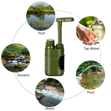 Outdoor Water Filter Straw Water Filtration System Water Purifier for Family Preparedness Camping Hiking Emergency - image 1 of 7