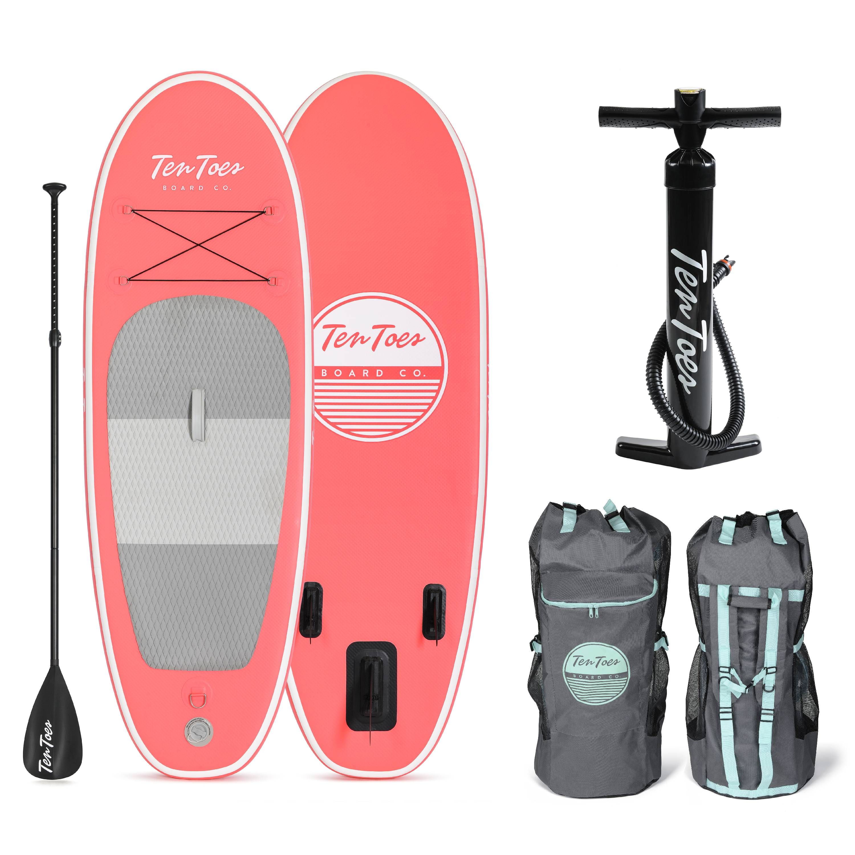 Ten Toes Nano Inflatable Stand Up Paddle Board Bundle b08e662b0