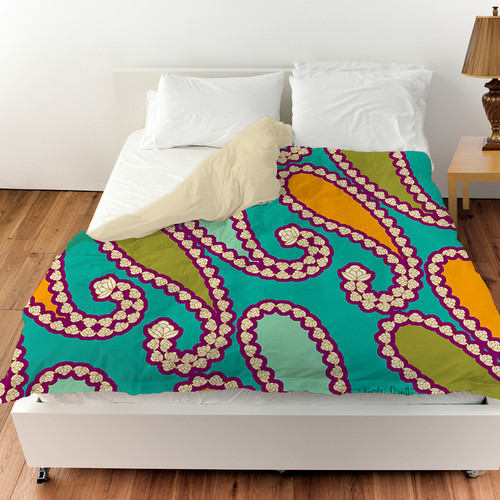 Manual Woodworkers & Weavers Paisley Duvet Cover
