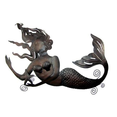 Giant Metal Swimming Mermaid Art Sculpture Beach House