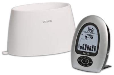 New Wireless Digital Rain Gauge Indoor & Radio Frequency Outdoor Thermomet by