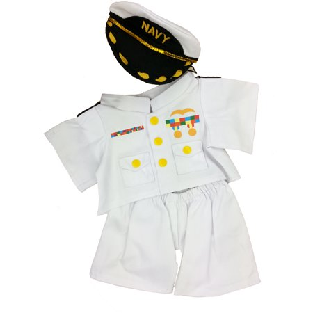 (In the Navy Outfit Teddy Bear Clothes Outfit Fits Most 14