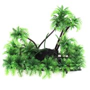 Fish Tank Fishbowl Artificial Aquarium Plant Underwater Coconut Palm Decor 15cm