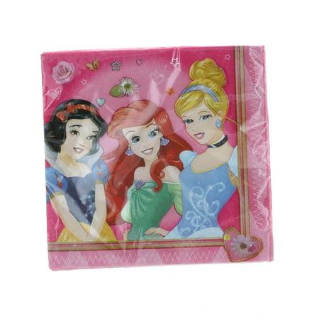 "Disney Princess 16 Beverage Napkins 10"" x10"" Paper Goods Birthday Supplies"