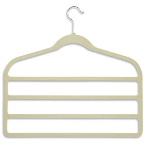 Honey Can Do 2-Pack Velvet Touch 4-Step Hanger, Tan