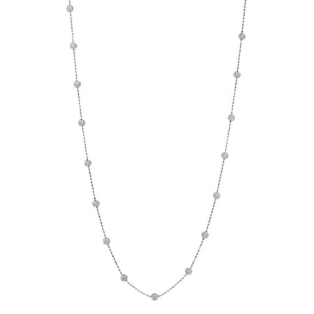 Beaded Chain Necklace in Sterling - Silver Beaded Necklaces