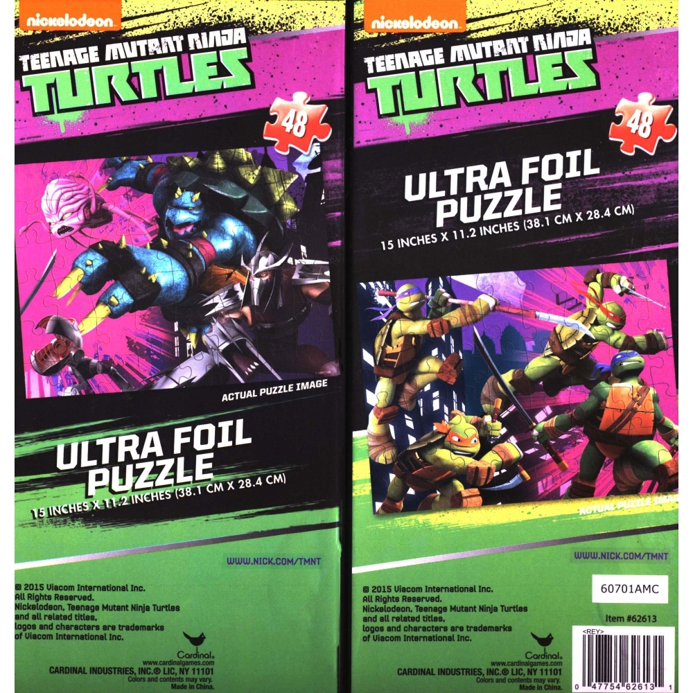Teenage Mutant Ninja Turtles VS 2 Pack 48 Piece Foil P,  Puzzles by Red Bird