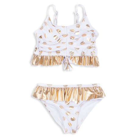 Little Girl's Goldtone Ruffle 2-Piece Swimsuit ()