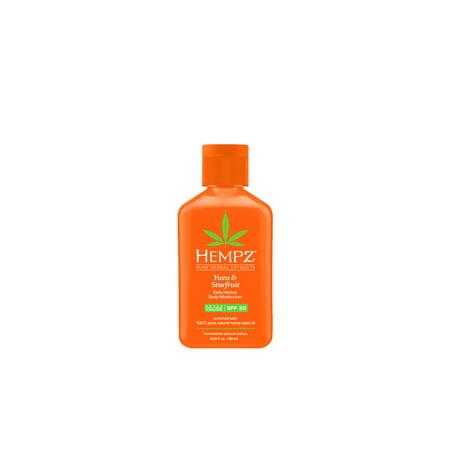 30 Personal Care - Hempz Yuzu & Starfruit Daily Herbal Moisturizer with SPF 30 - 2.25 oz.