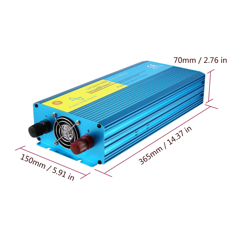 1000W Car Power Inverter DC12V to AC110V Converter Adapter For TV ...