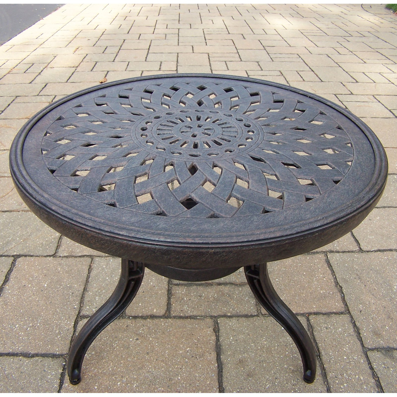 Oakland Living Belmont 21 in. Round Patio Side Table