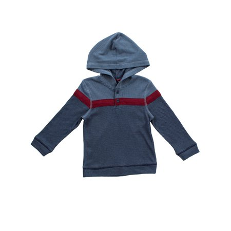 Bear Camp Thermal Hooded Henley (Little Boys and Big Boys) (Buckle Hooded Sweatshirt)