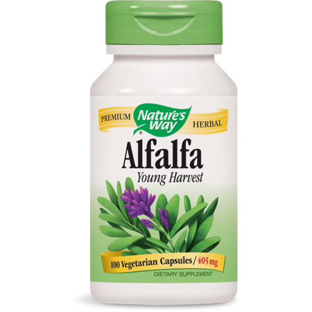 Nature's Way Alfalfa Young Harvest 405 mg Tru-ID? Certified, 100 Ct
