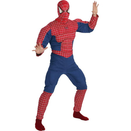 Morris costumes DG5933 Spiderman Muscle Chest Adult