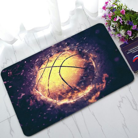 Kentucky Basketball Rug (PHFZK Sports Doormat, Fire Basketball Doormat Outdoors/Indoor Doormat Home Floor Mats Rugs Size 30x18 inches)