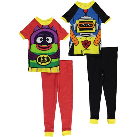 Yo Gabba Gabba Little Boys Toddler  Dress Up  4 Piece Pajamas  Sizes 2T   4T