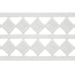 Expo Int'l 10 yards of Two Row Diamond Border Lace Trim by the yard