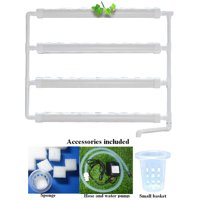 Intbuying Hydroponic Site Grow Kit Wall Mounted 36 Holes Garden Plant System #141123