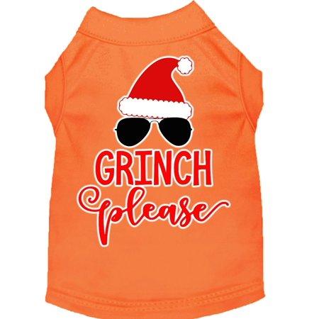 Grinch Please Screen Print Dog Shirt Orange XXXL (20)