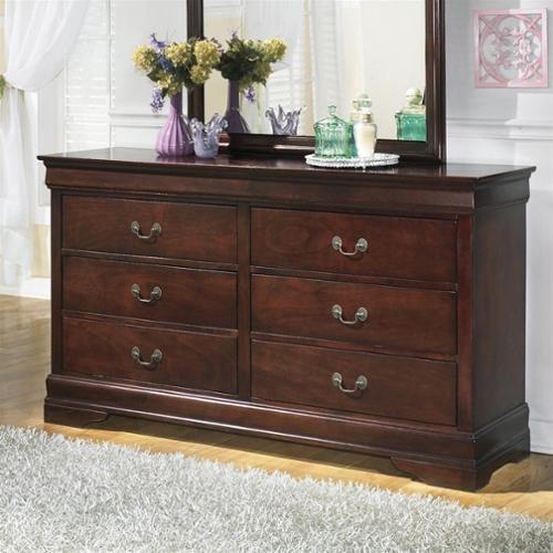 Signature Design by Ashley Furniture Alisdair 6-Drawer Double Dresser in Warm Dark Brown
