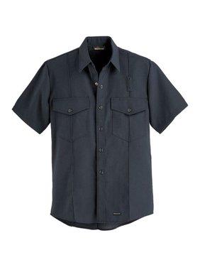 WORKRITE FR Short Sleeve Shirt,Black,48 in.,Snaps 740NX45BK