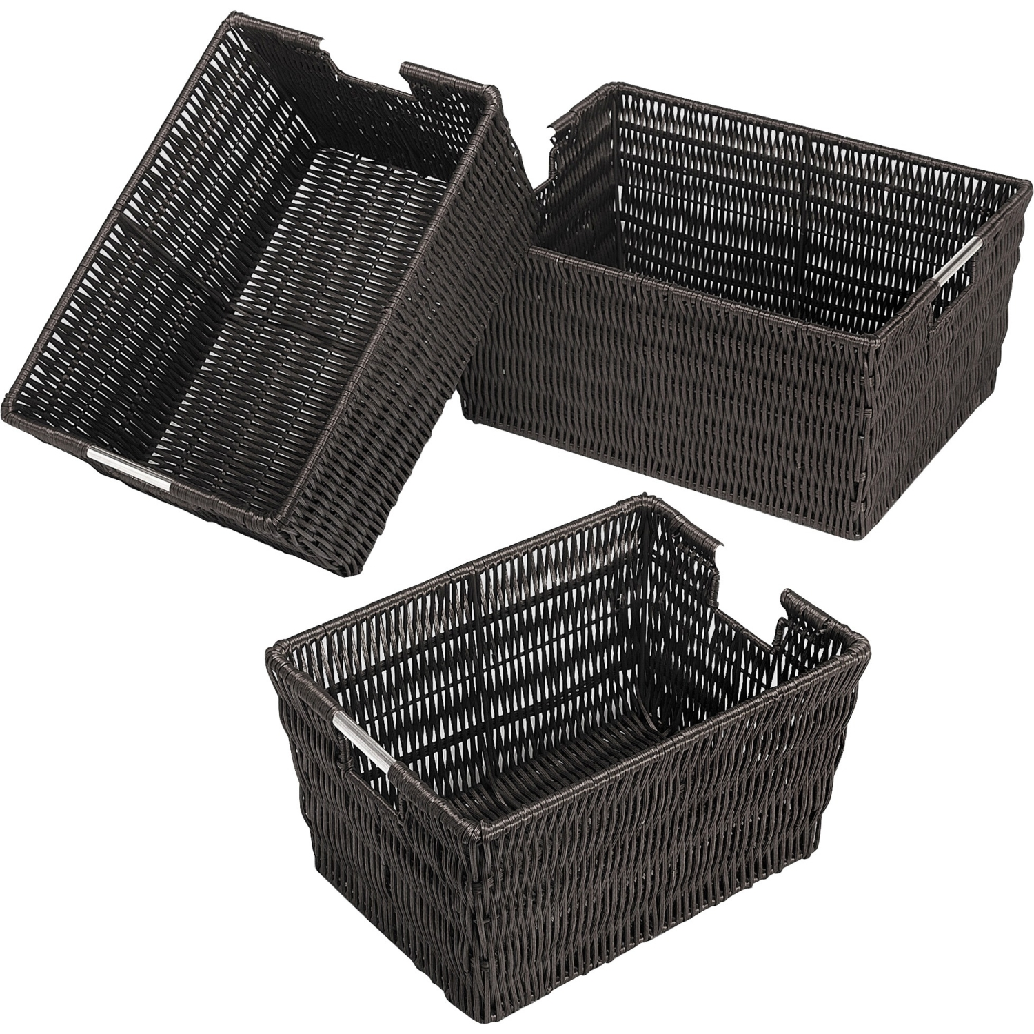 Whitmor Rattique Storage Baskets Set of 3, Multiple Colors