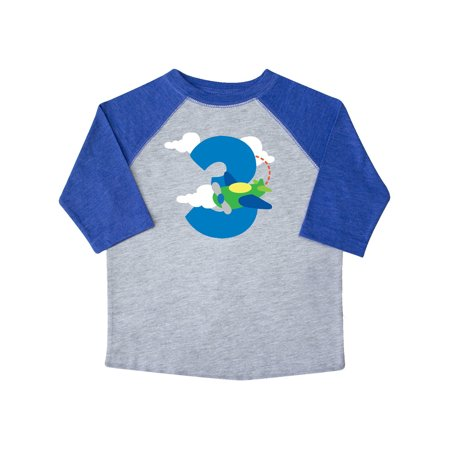 3rd Birthday Airplane Boys Party Photo Toddler T-Shirt
