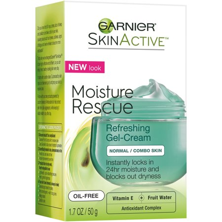 Garnier SkinActive Moisture Rescue Refreshing Gel-Cream for Normal/Combo Skin 1.7 oz. (Face Fragrance Free Moisture)